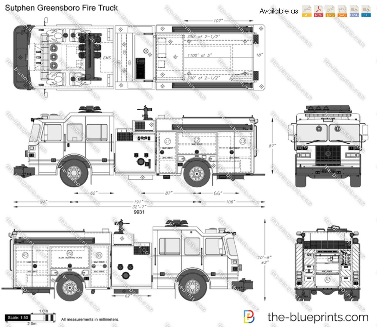 Sutphen Greensboro Fire Truck