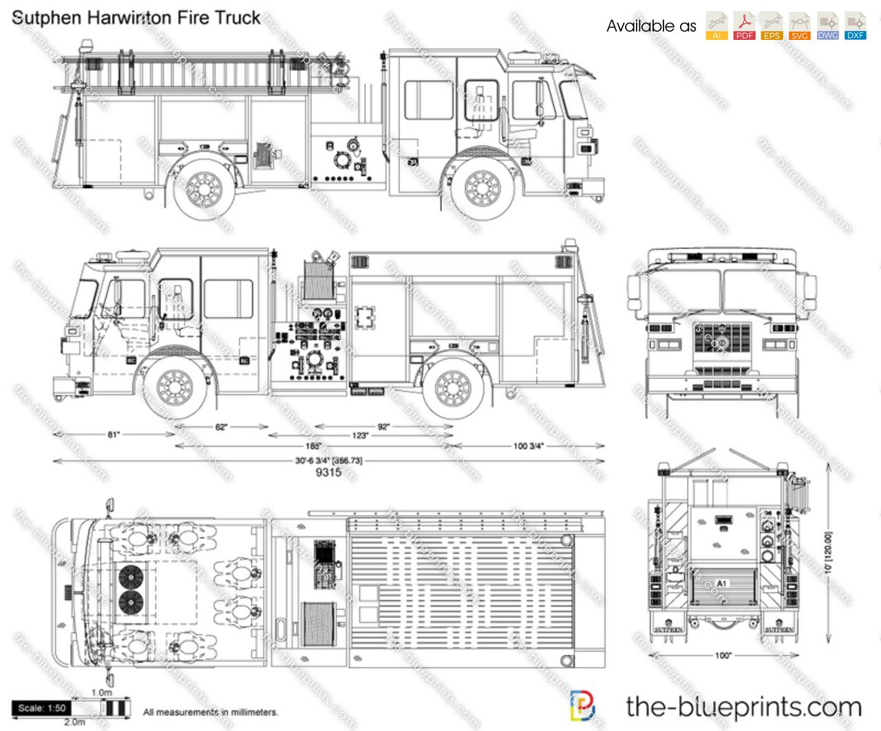 Sutphen Harwinton Fire Truck