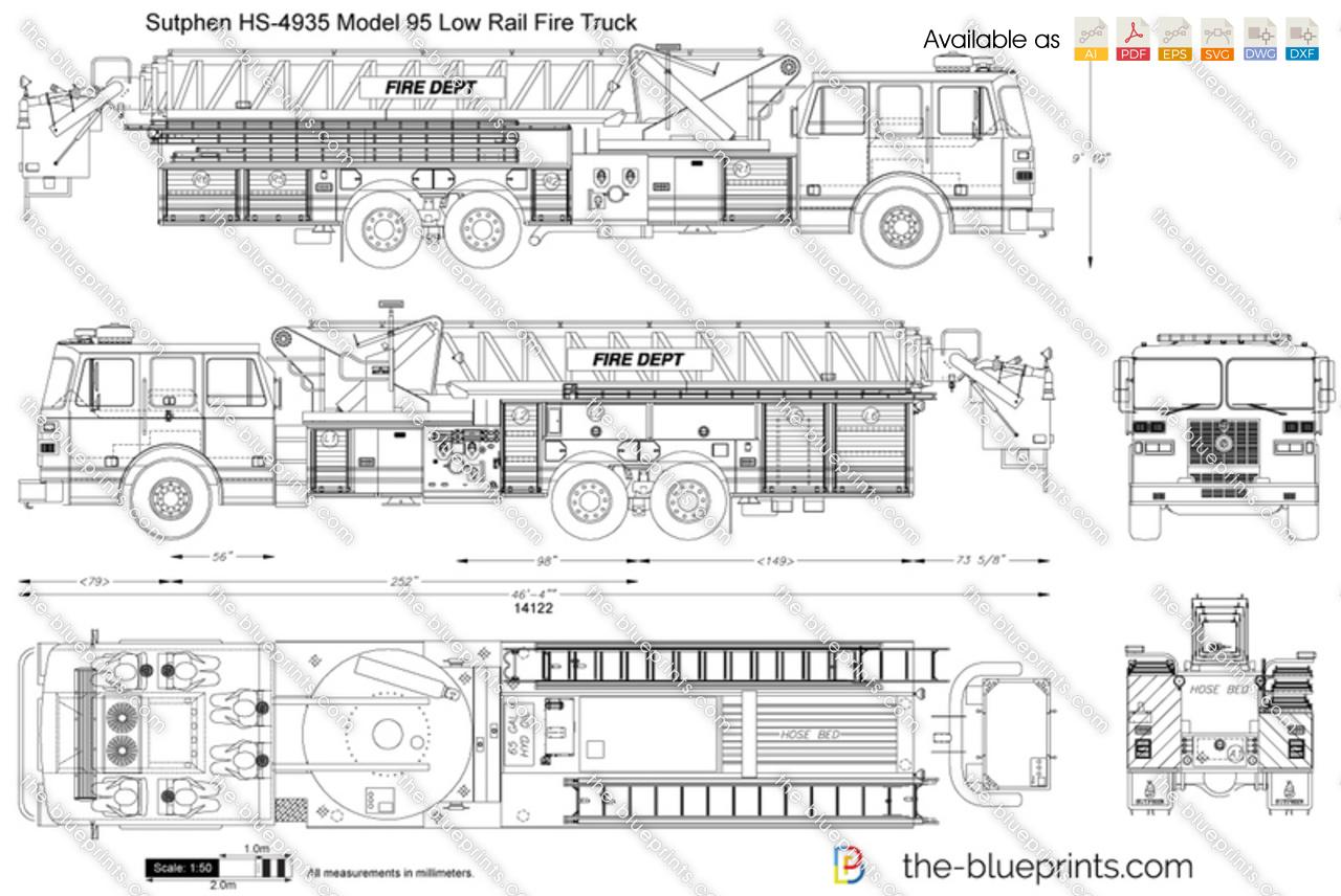 Sutphen HS-4935 Model 95 Low Rail Fire Truck