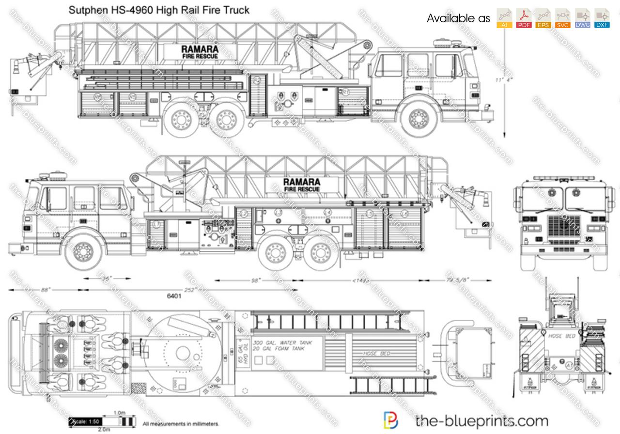 Sutphen HS-4960 High Rail Fire Truck