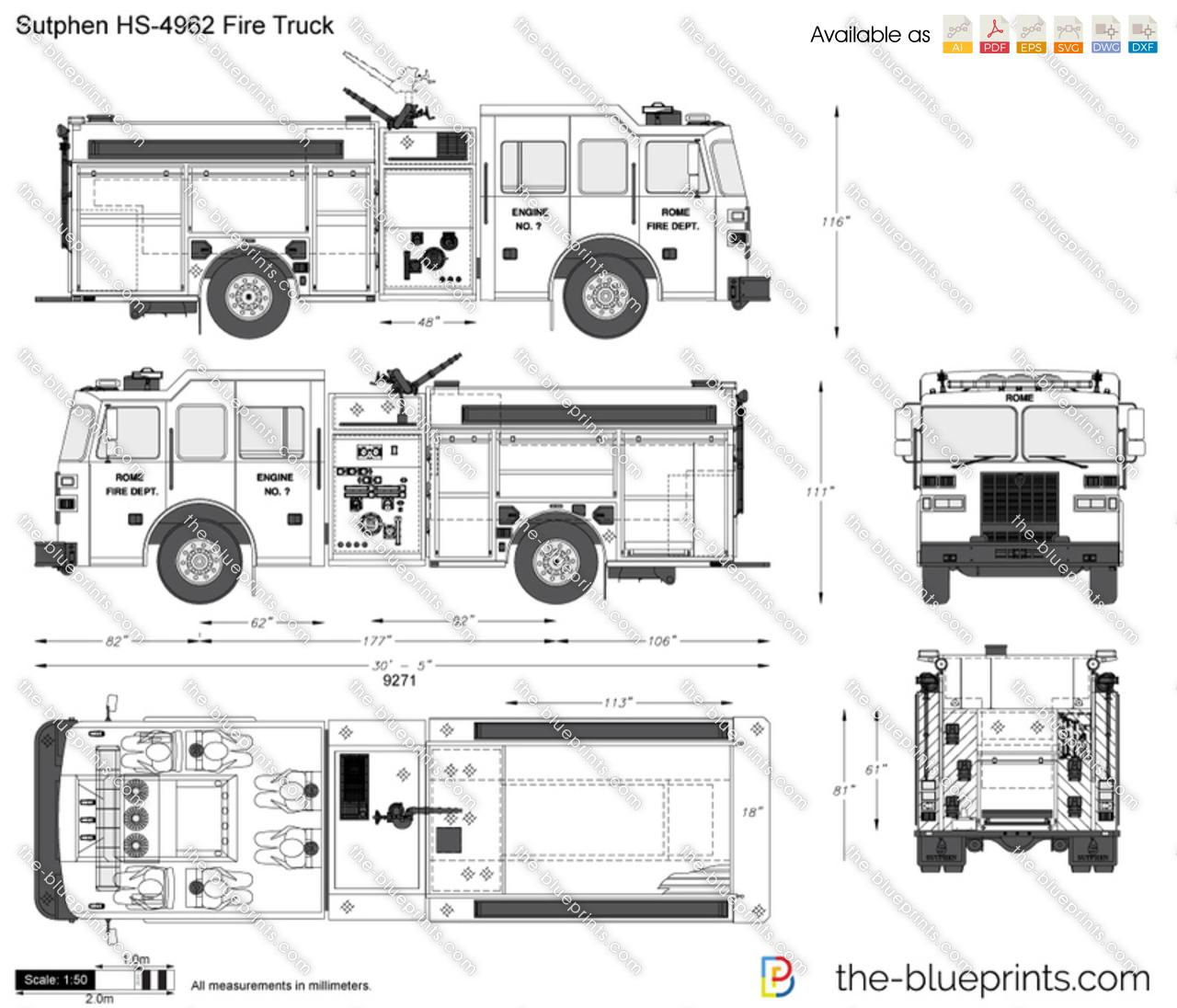 fire truck pumper diagram