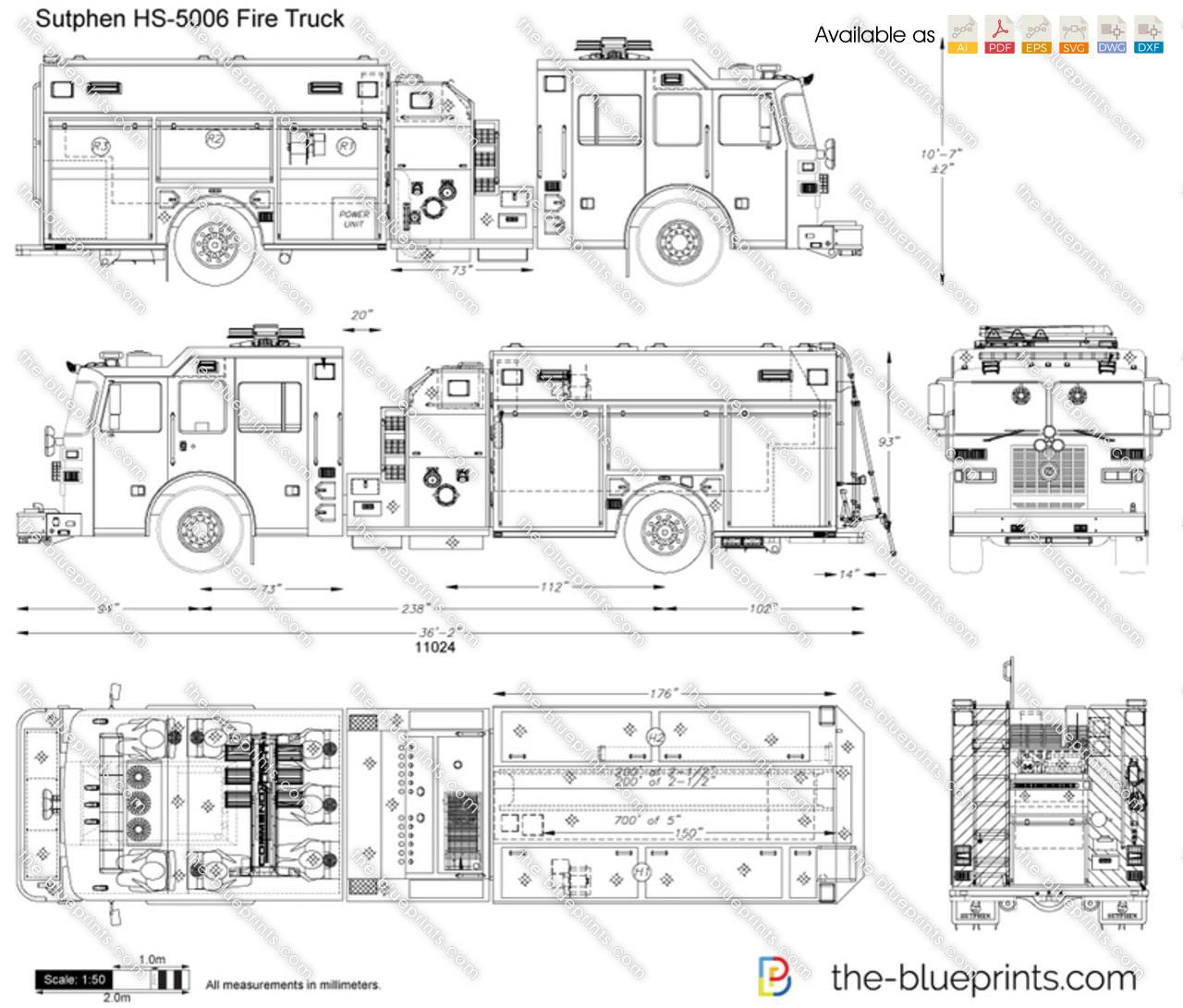Sutphen HS-5006 Fire Truck
