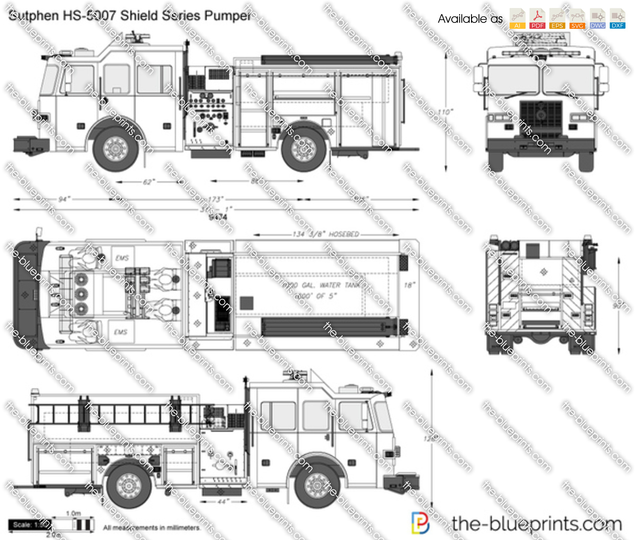 Sutphen HS-5007 Shield Series Pumper