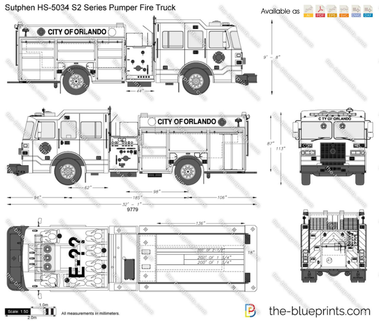 Sutphen HS-5034 S2 Series Pumper Fire Truck