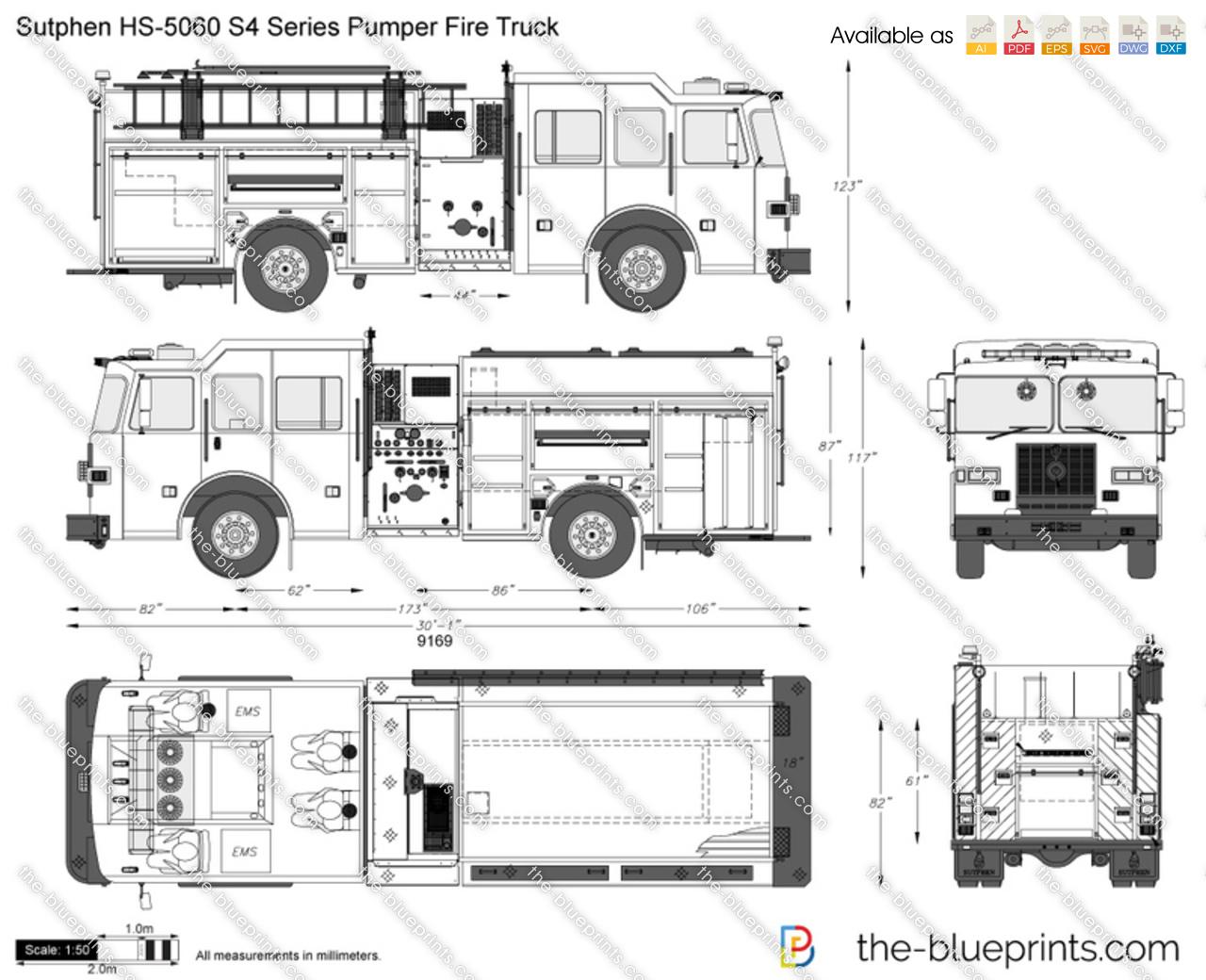 Sutphen HS-5060 S4 Series Pumper Fire Truck