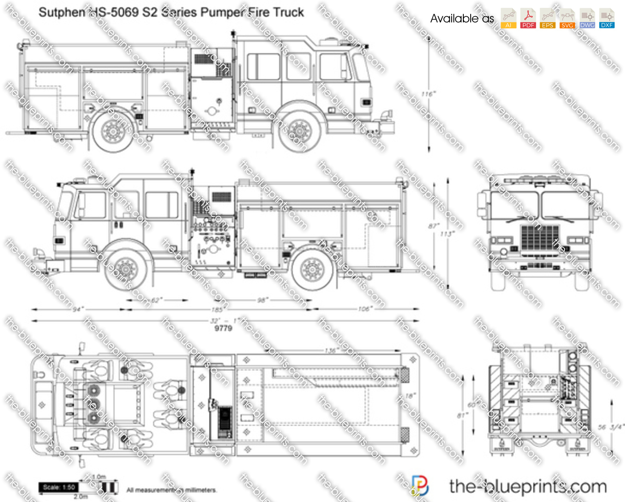 Sutphen HS-5069 S2 Series Pumper Fire Truck