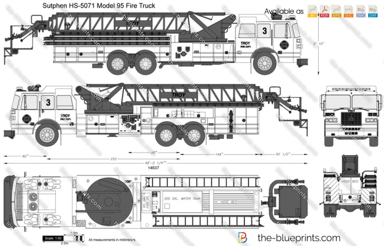 Sutphen HS-5071 Model 95 Fire Truck