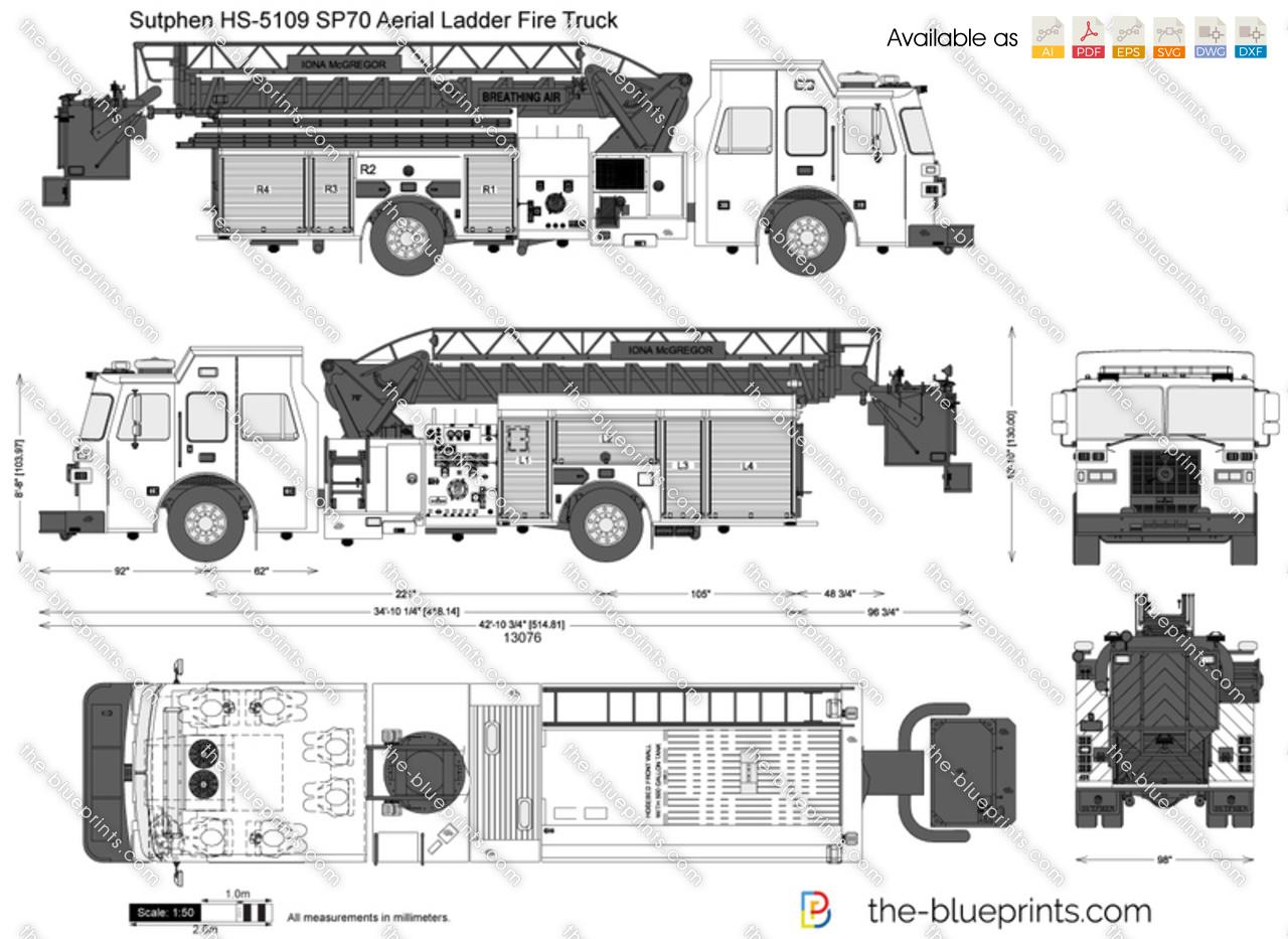 Sutphen HS-5109 SP70 Aerial Ladder FIre Truck
