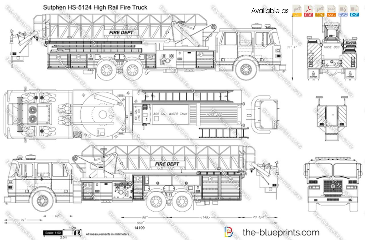Sutphen HS-5124 High Rail Fire Truck