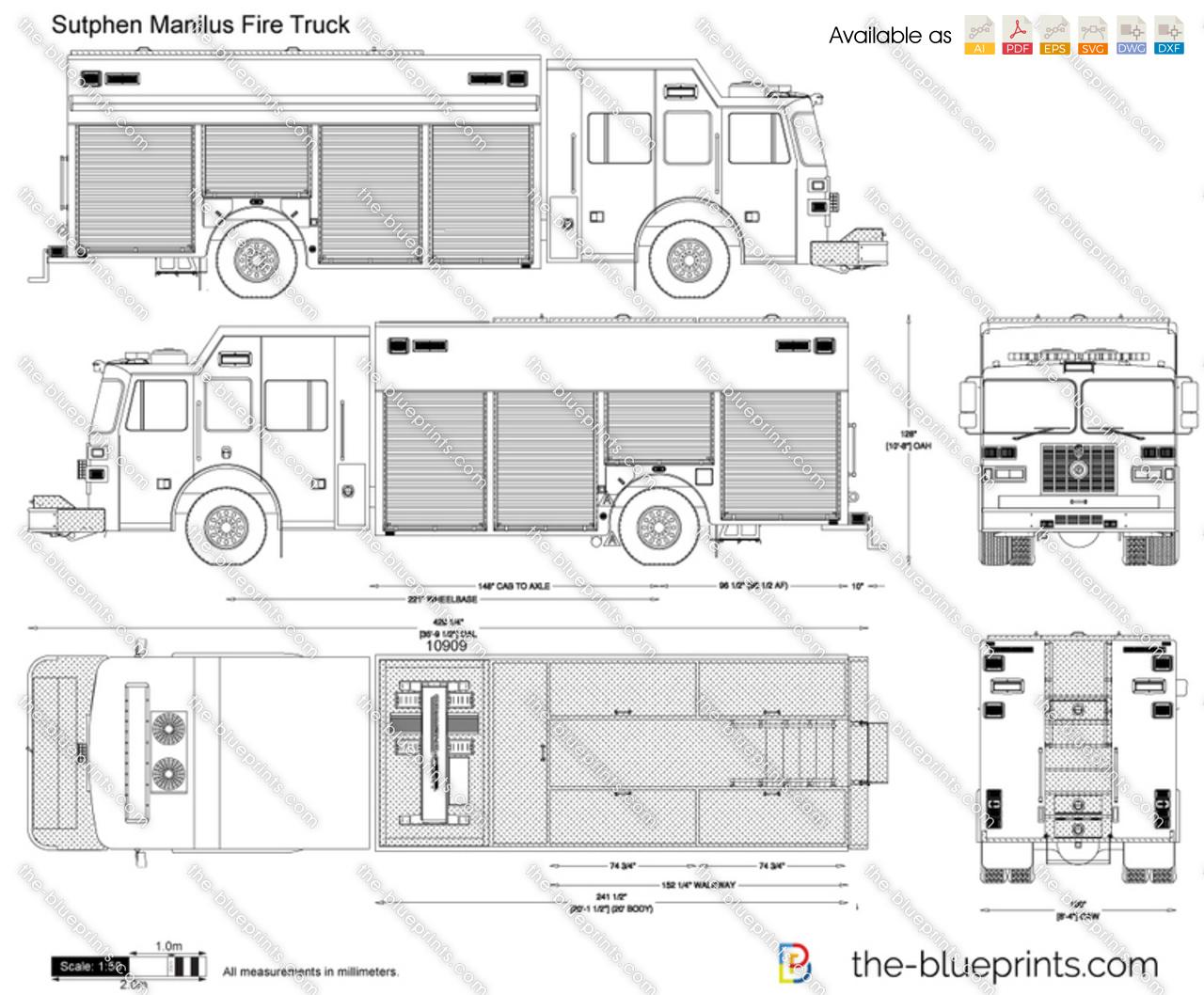 Sutphen Manilus Fire Truck