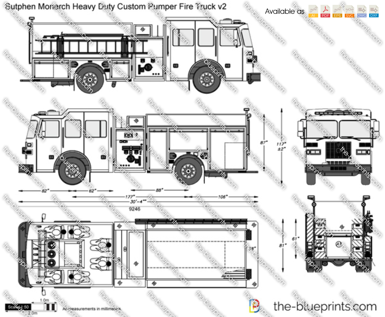 sutphen monarch heavy duty custom pumper fire truck v2