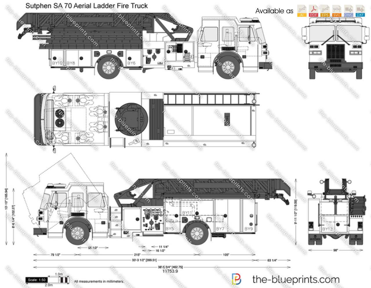 Sutphen SA 70 Aerial Ladder Fire Truck