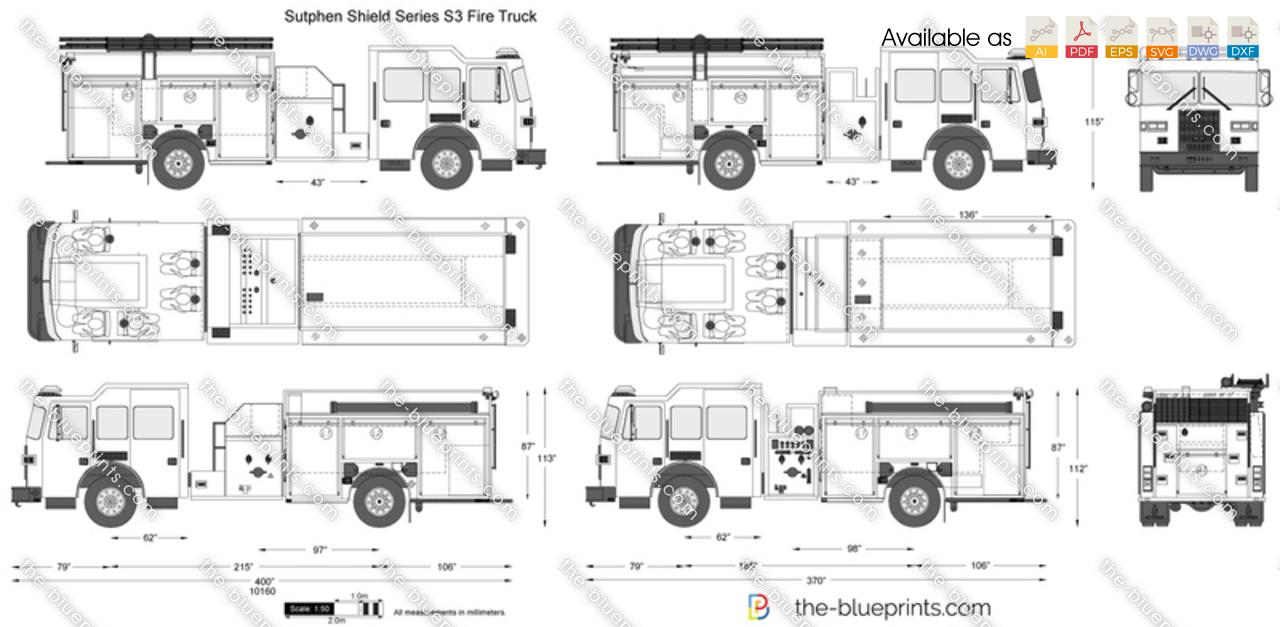 Sutphen Shield Series S3 Fire Truck