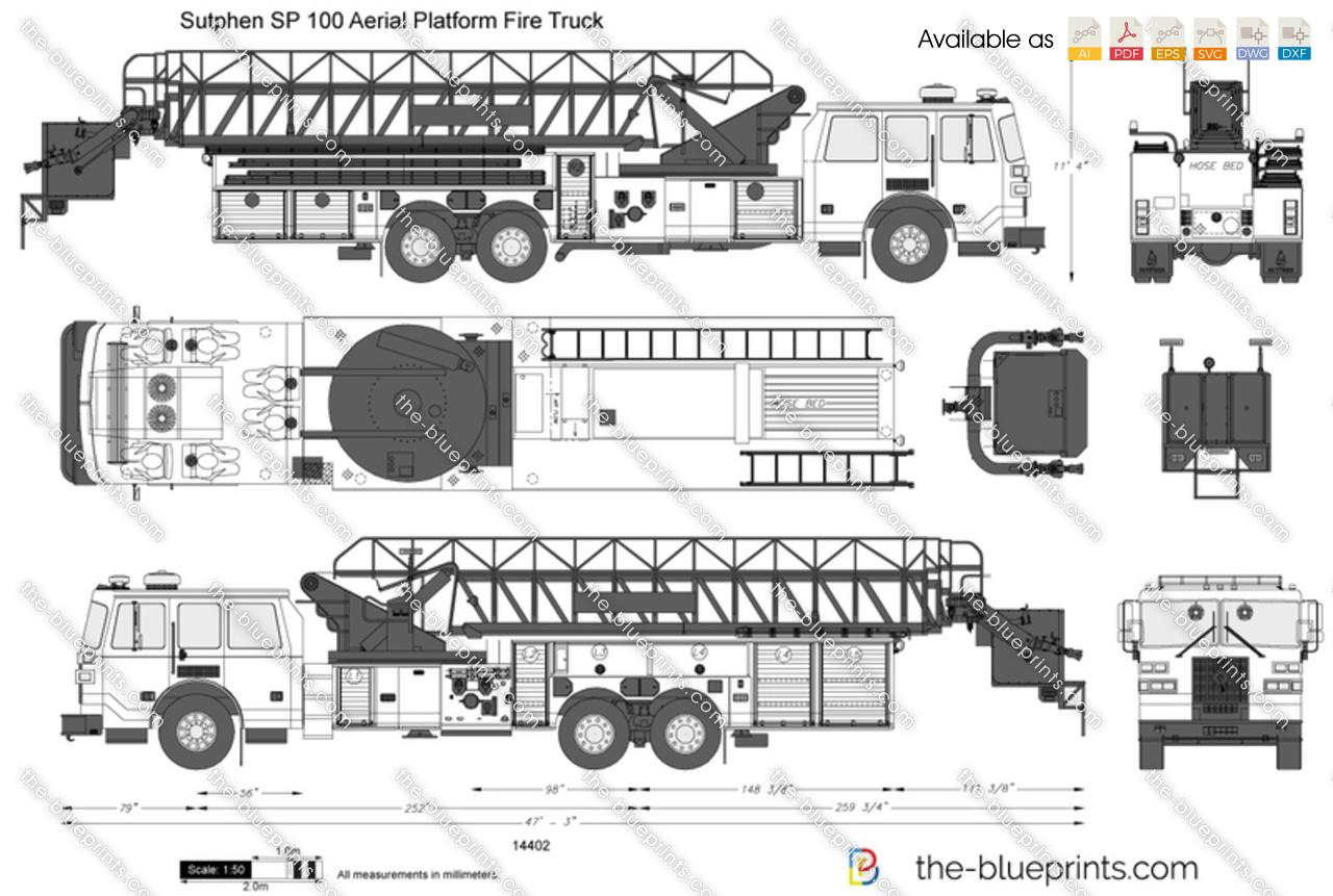 Sutphen SP 100 Aerial Platform Fire Truck