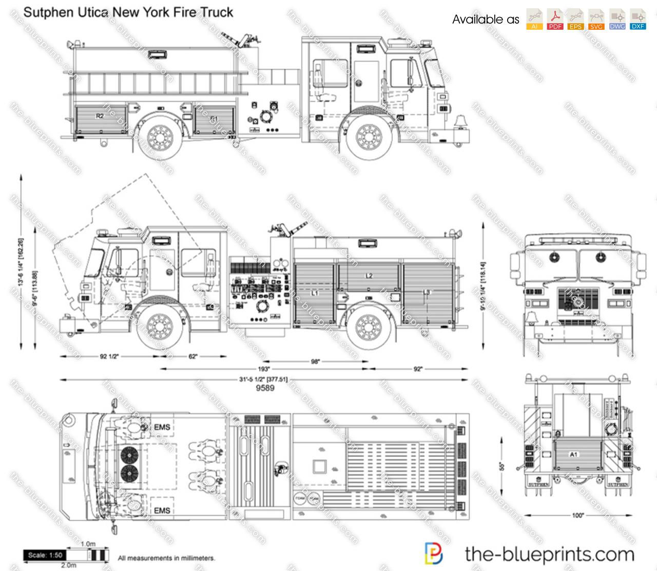 Fire Truck Diagram Trusted Wiring Diagrams Pierce Engine Pump Sutphen Utica New York Vector Drawing Schematic