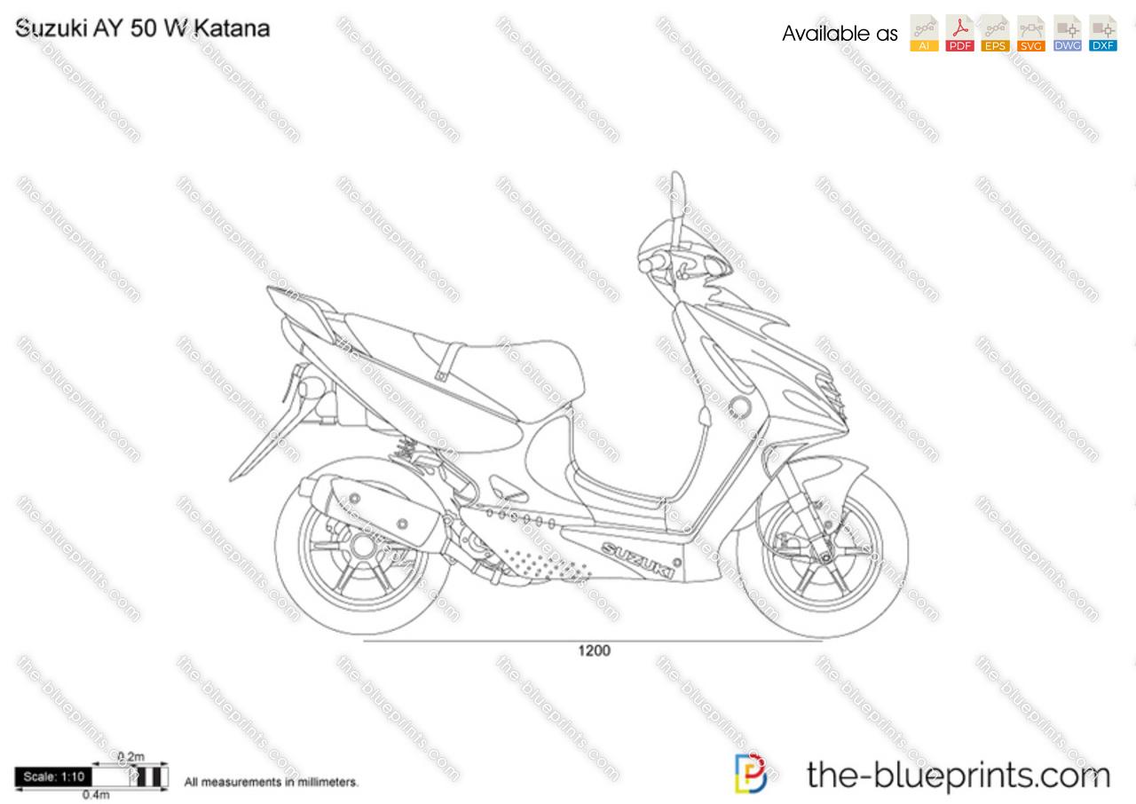 Suzuki AY 50 W Katana