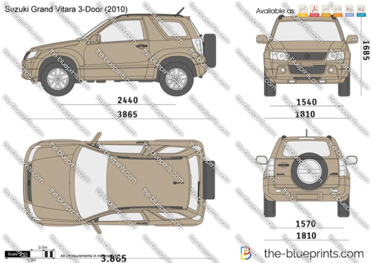 The Blueprints Com Vector Drawing Suzuki Grand Vitara