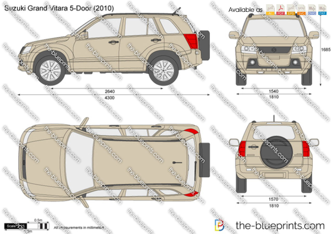 suzuki grand vitara 5 door vector drawing. Black Bedroom Furniture Sets. Home Design Ideas