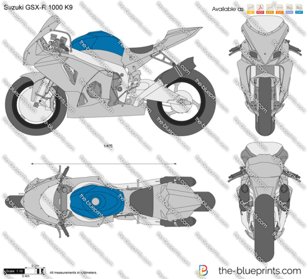 suzuki gsx r 1000 k9 wsbk vector drawing. Black Bedroom Furniture Sets. Home Design Ideas