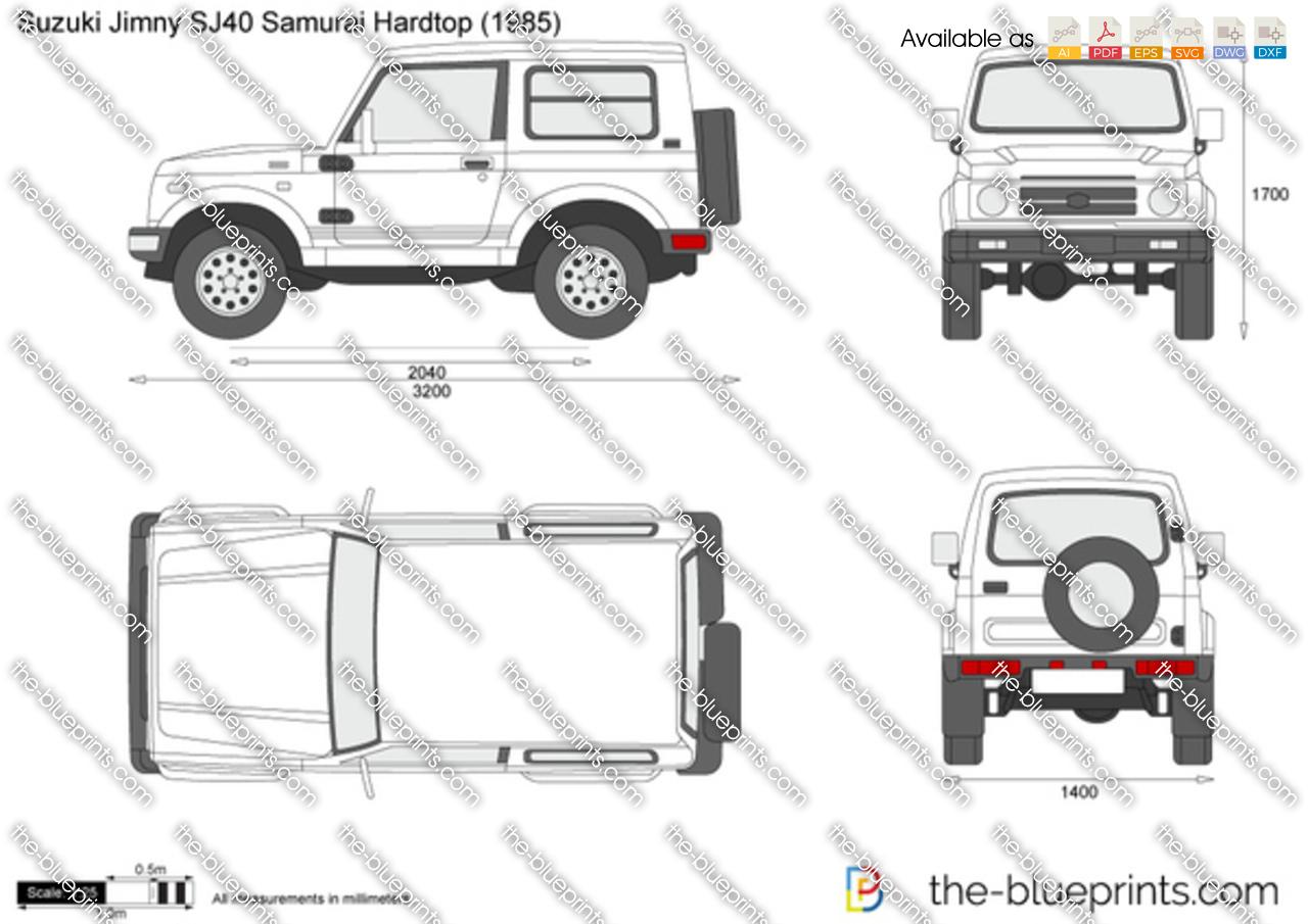 The Blueprints Com Vector Drawing Suzuki Jimny Sj40