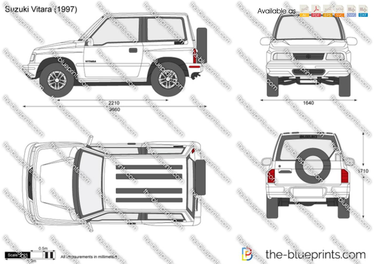the vector drawing suzuki vitara. Black Bedroom Furniture Sets. Home Design Ideas