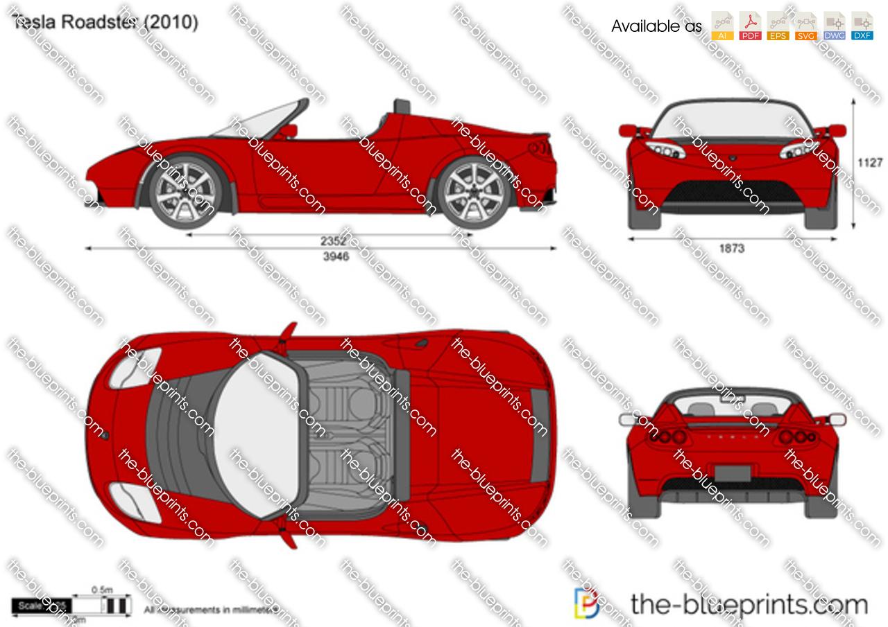 Blueprint Drawing Online The Blueprints Com Vector Drawing Tesla Roadster