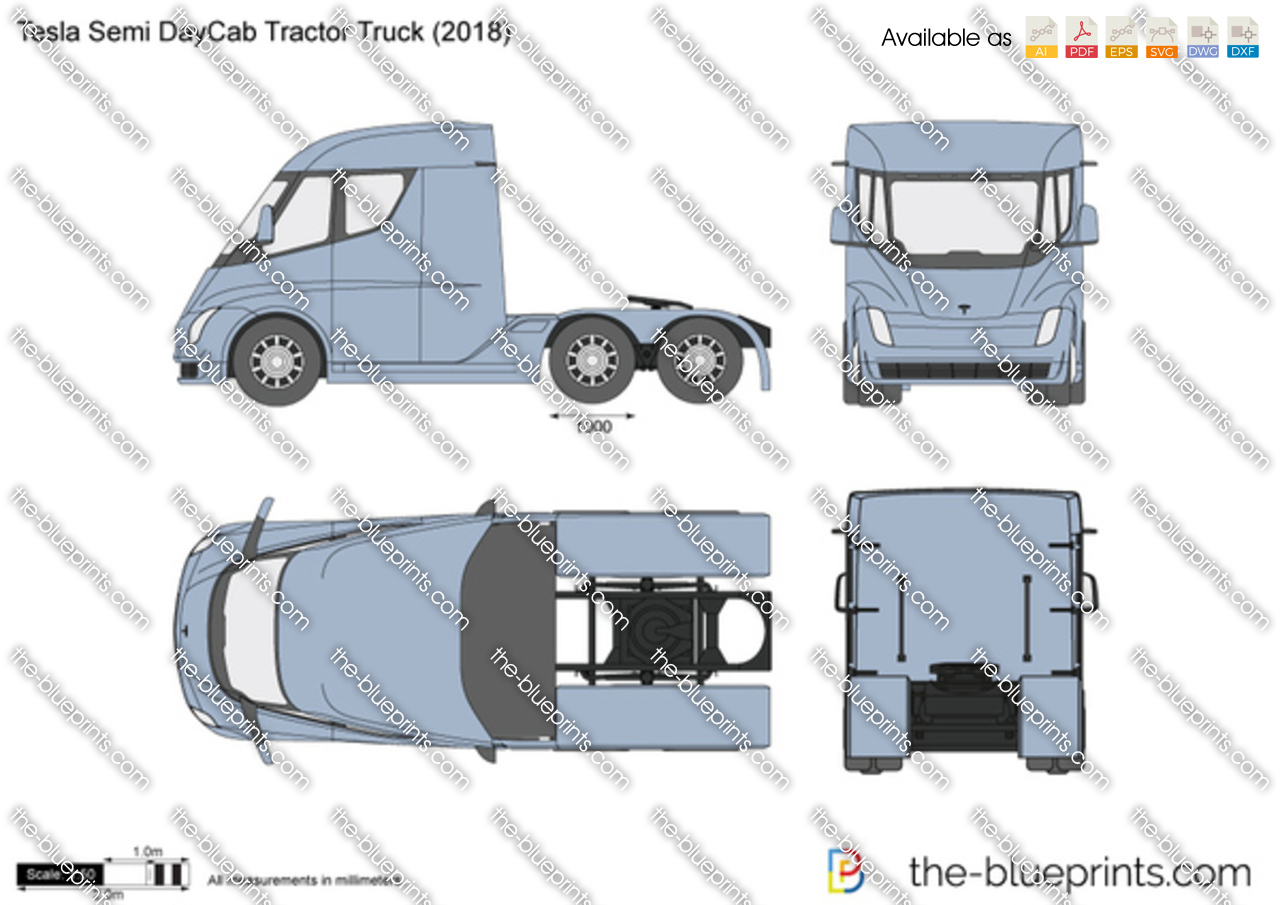 Tesla Semi DayCab Tractor Truck