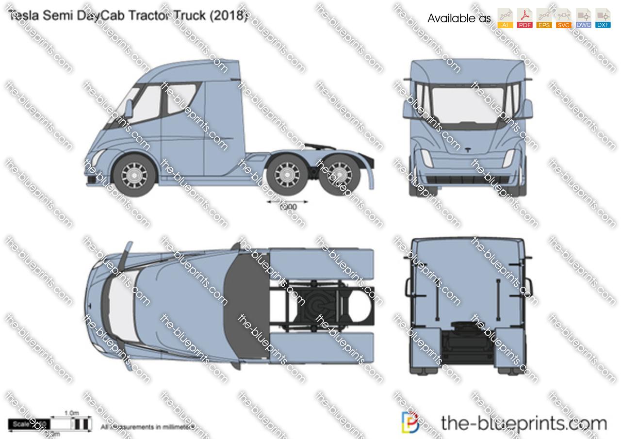 Tesla Semi DayCab Tractor Truck 2019