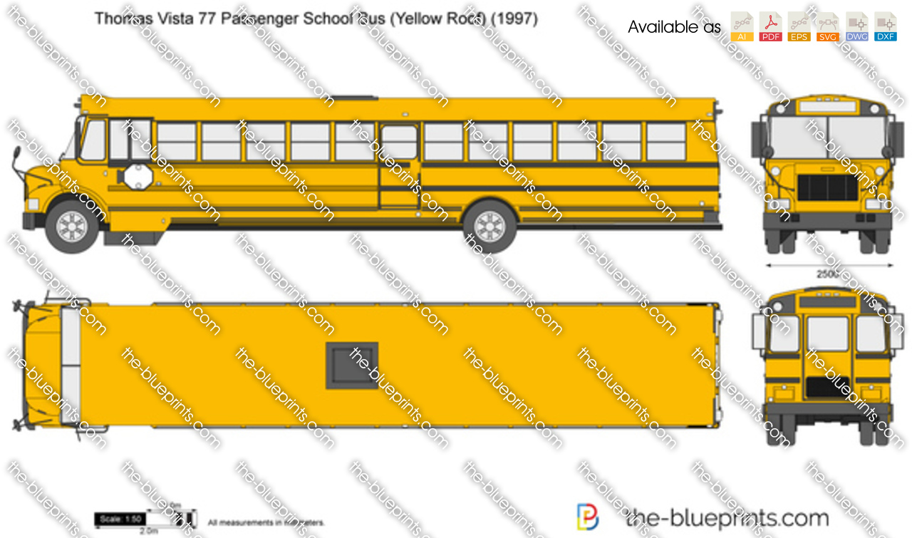 Thomas Vista 77 Passenger School Bus (Yellow Roof)