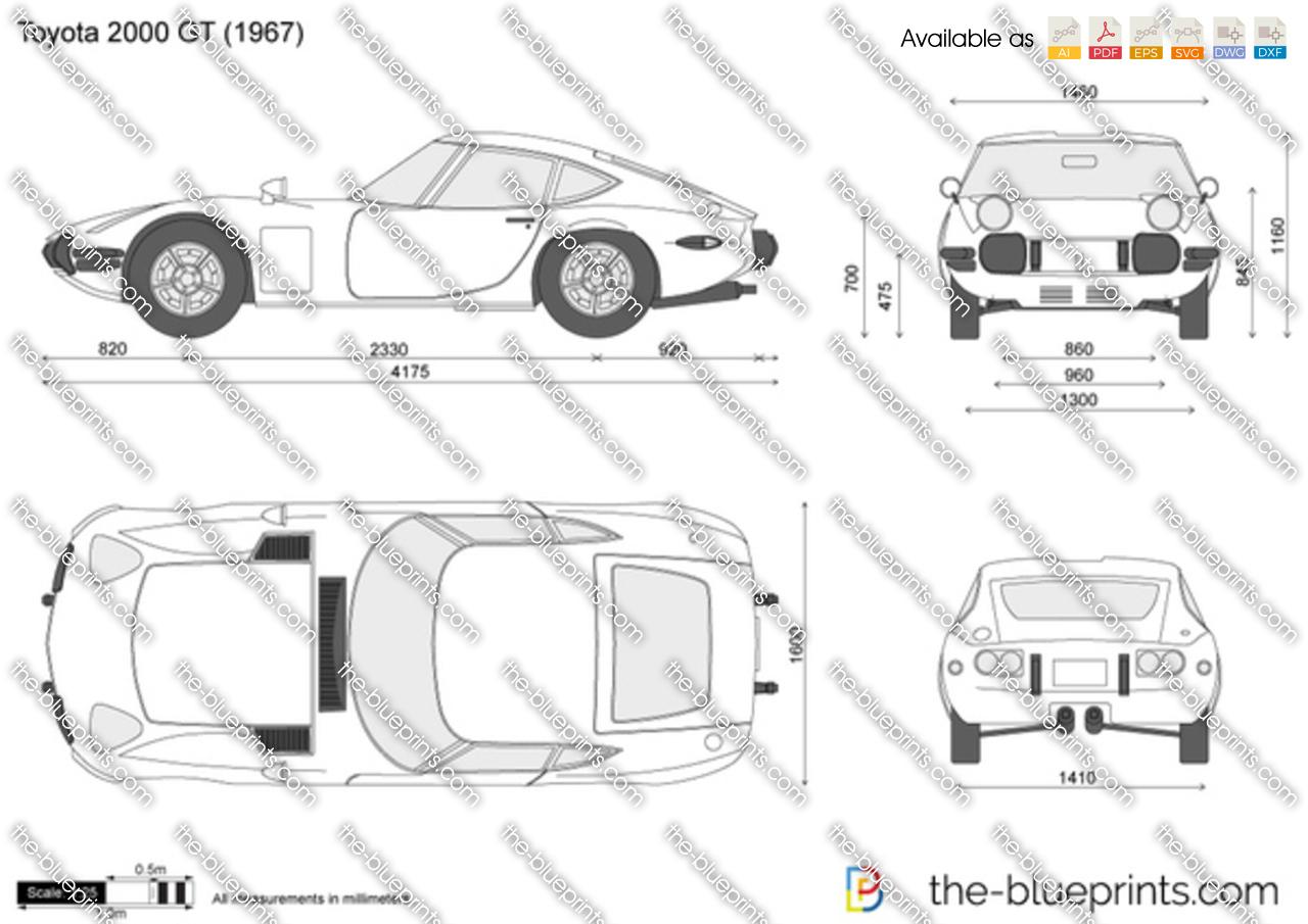 The Blueprints Com Vector Drawing Toyota 2000 Gt