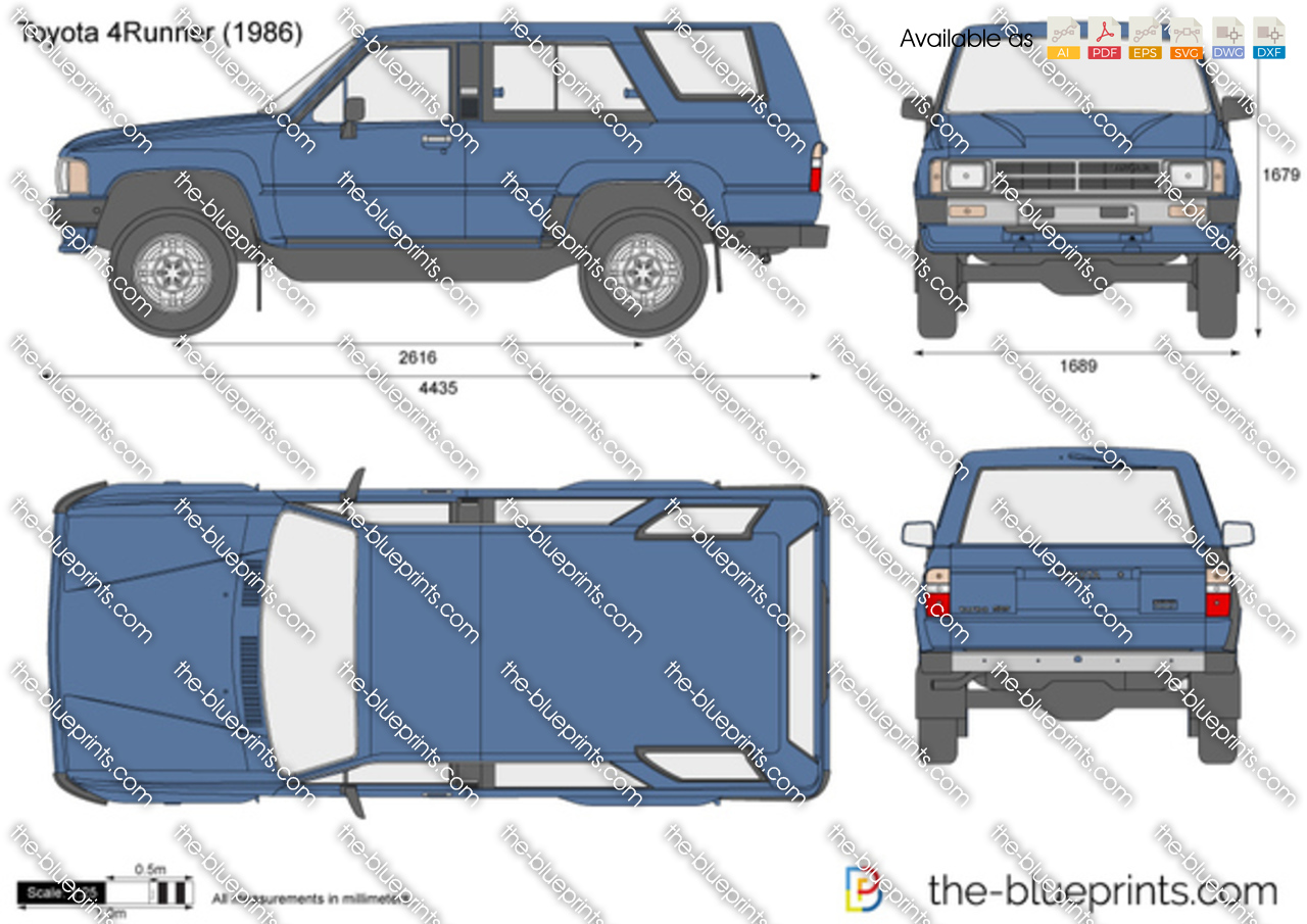 toyota 4runner vector drawing. Black Bedroom Furniture Sets. Home Design Ideas