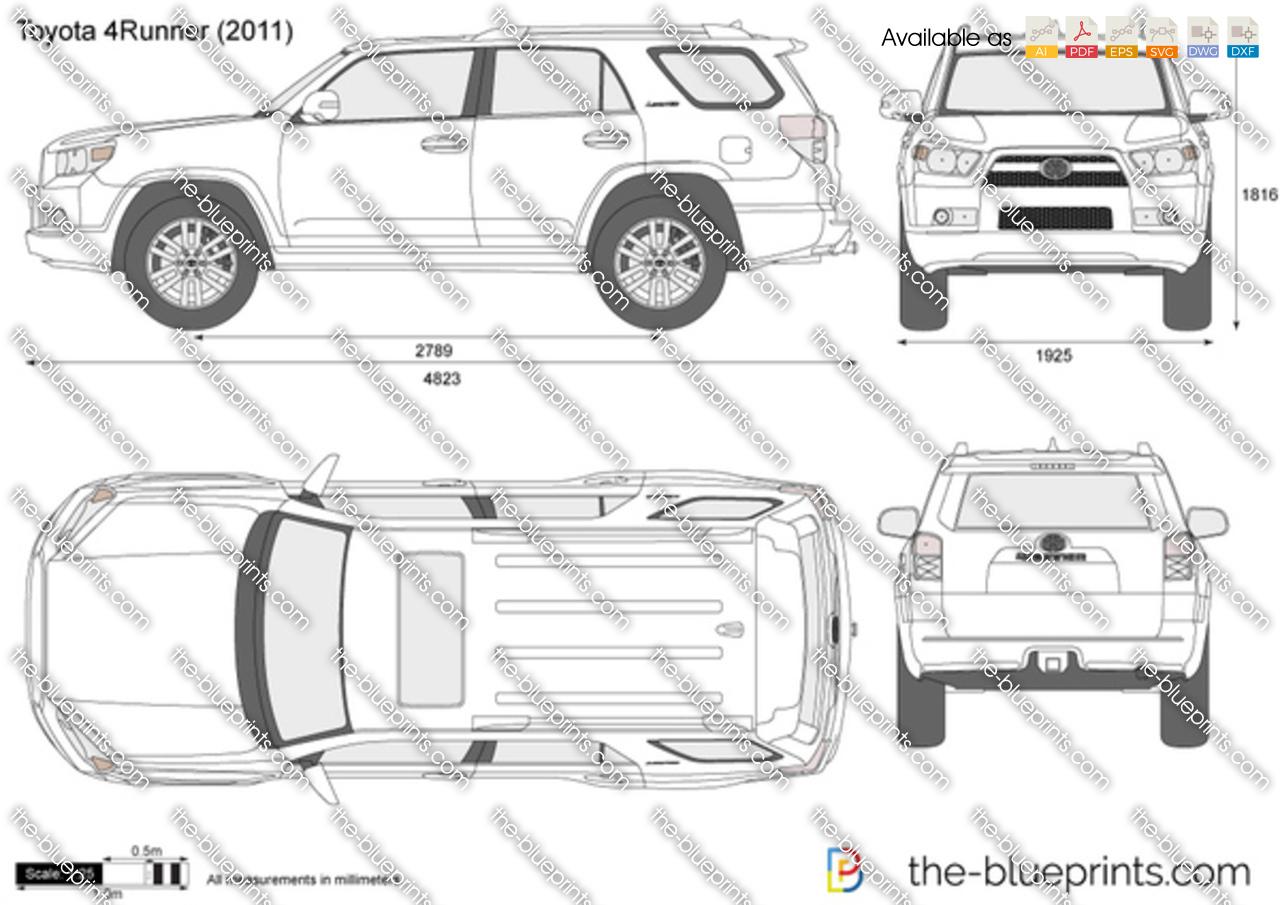 The-Blueprints.com - Vector Drawing - Toyota 4Runner