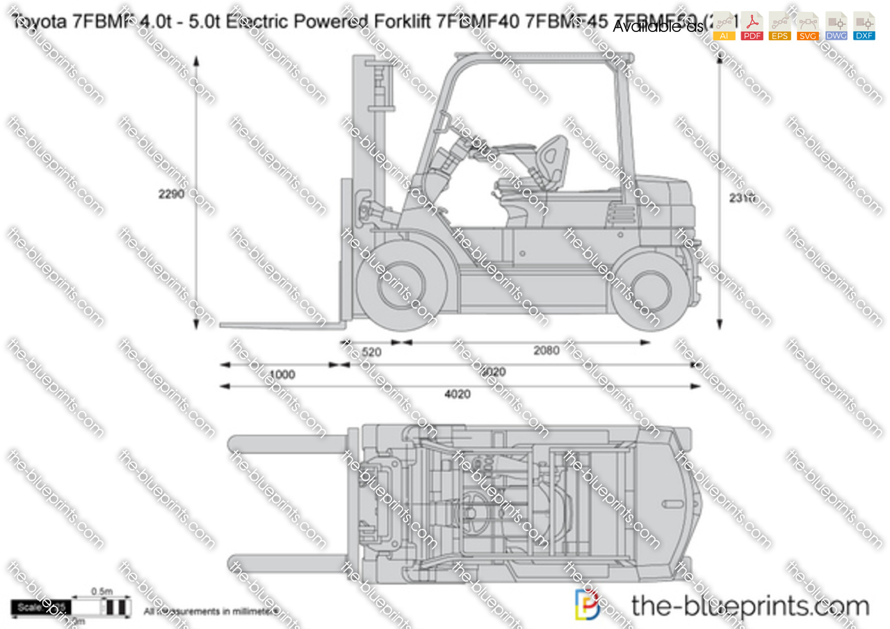 Toyota 7FBMF 4.0t - 5.0t Electric Powered Forklift 7FBMF40 7FBMF45 7FBMF50