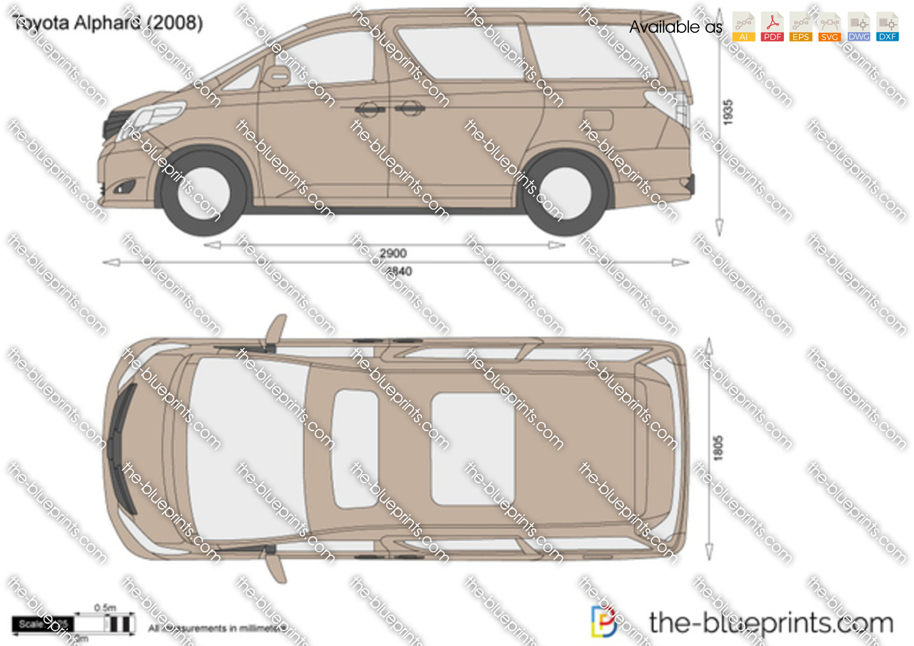 the vector drawing toyota alphard. Black Bedroom Furniture Sets. Home Design Ideas