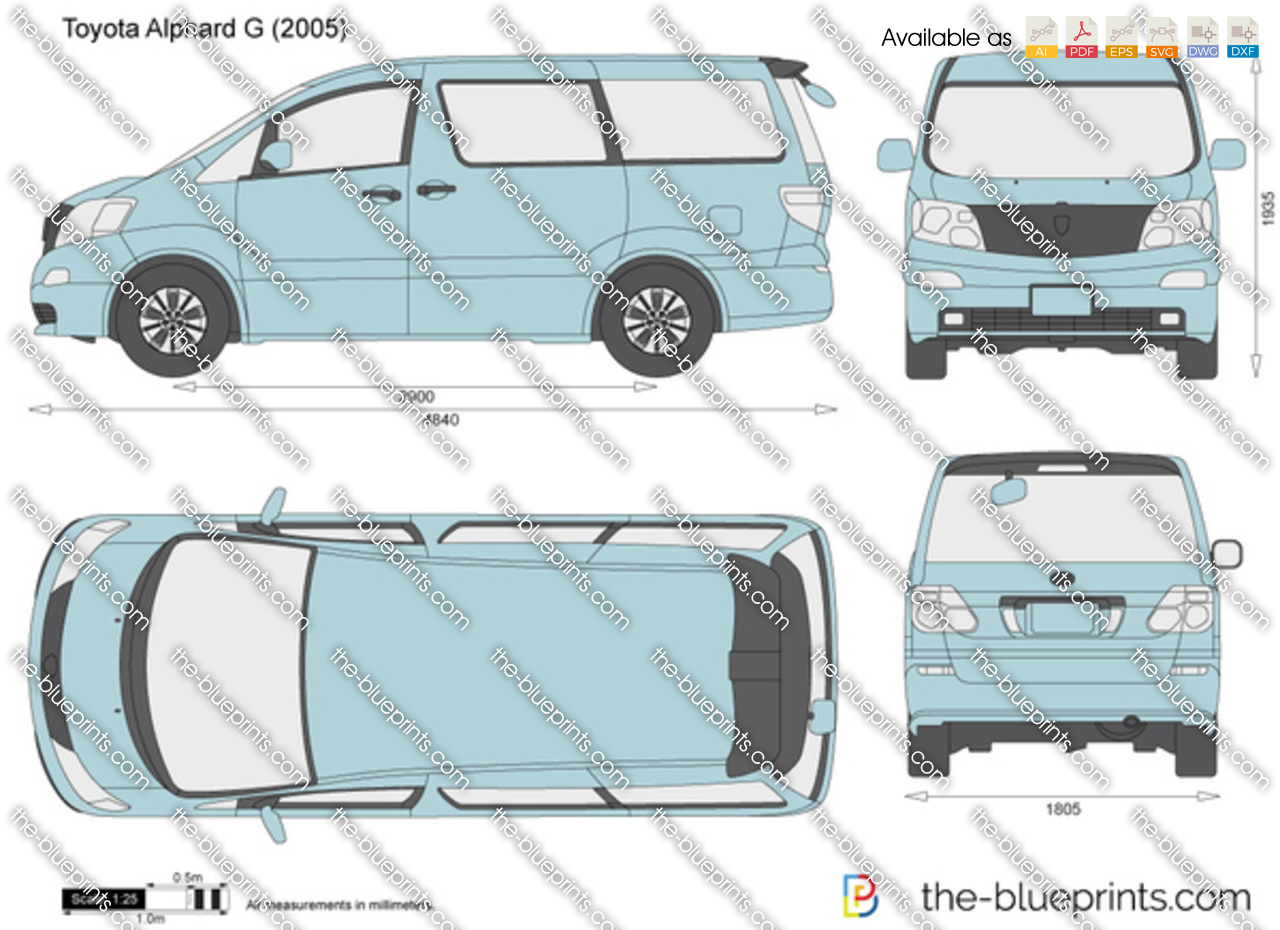 Toyota Alphard G Vector Drawing