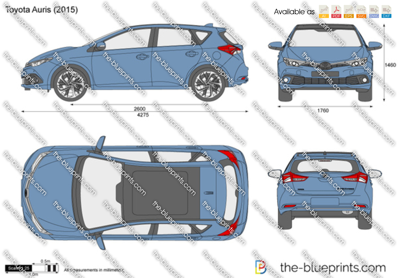the vector drawing toyota auris. Black Bedroom Furniture Sets. Home Design Ideas