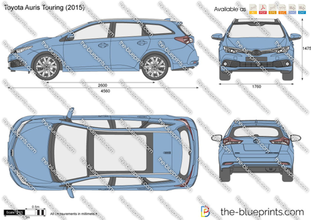 the vector drawing toyota auris touring. Black Bedroom Furniture Sets. Home Design Ideas