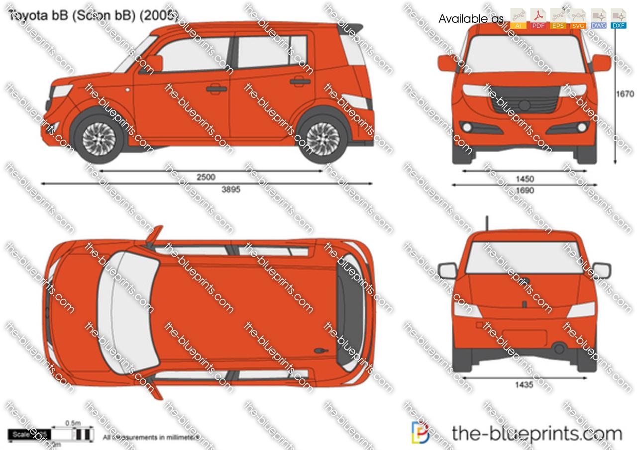 Toyota Bb Scion Bb Vector Drawing