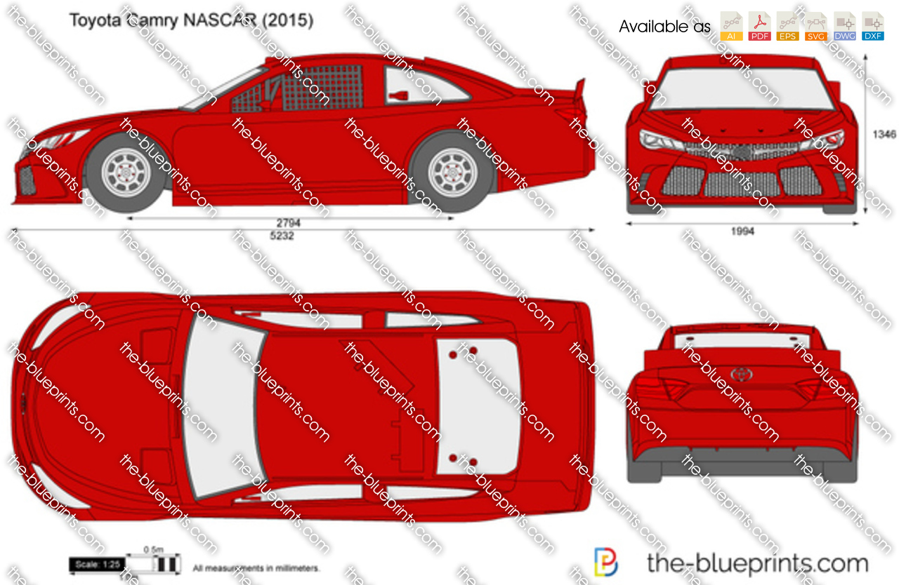 Toyota camry nascar vector drawing toyota camry nascar malvernweather Image collections