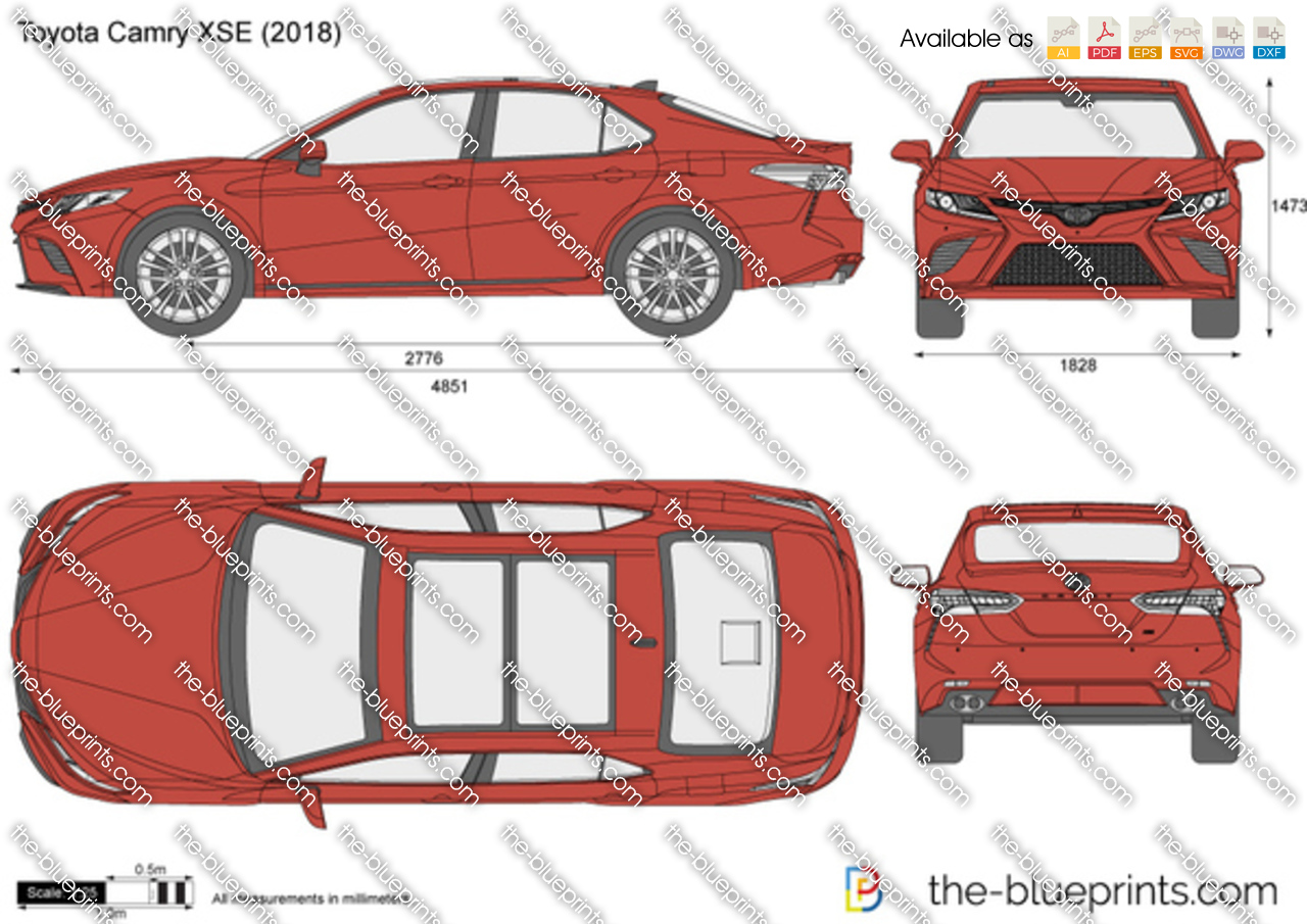 2017 Camry Xse >> Toyota Camry XSE vector drawing