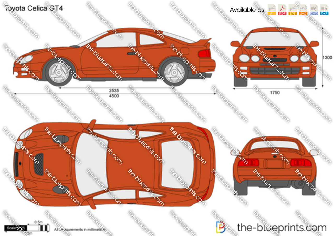 1998 Toyota Celica Blueprint Wiring Diagrams 1996 Diagram Gt4 Vector Drawing Engine