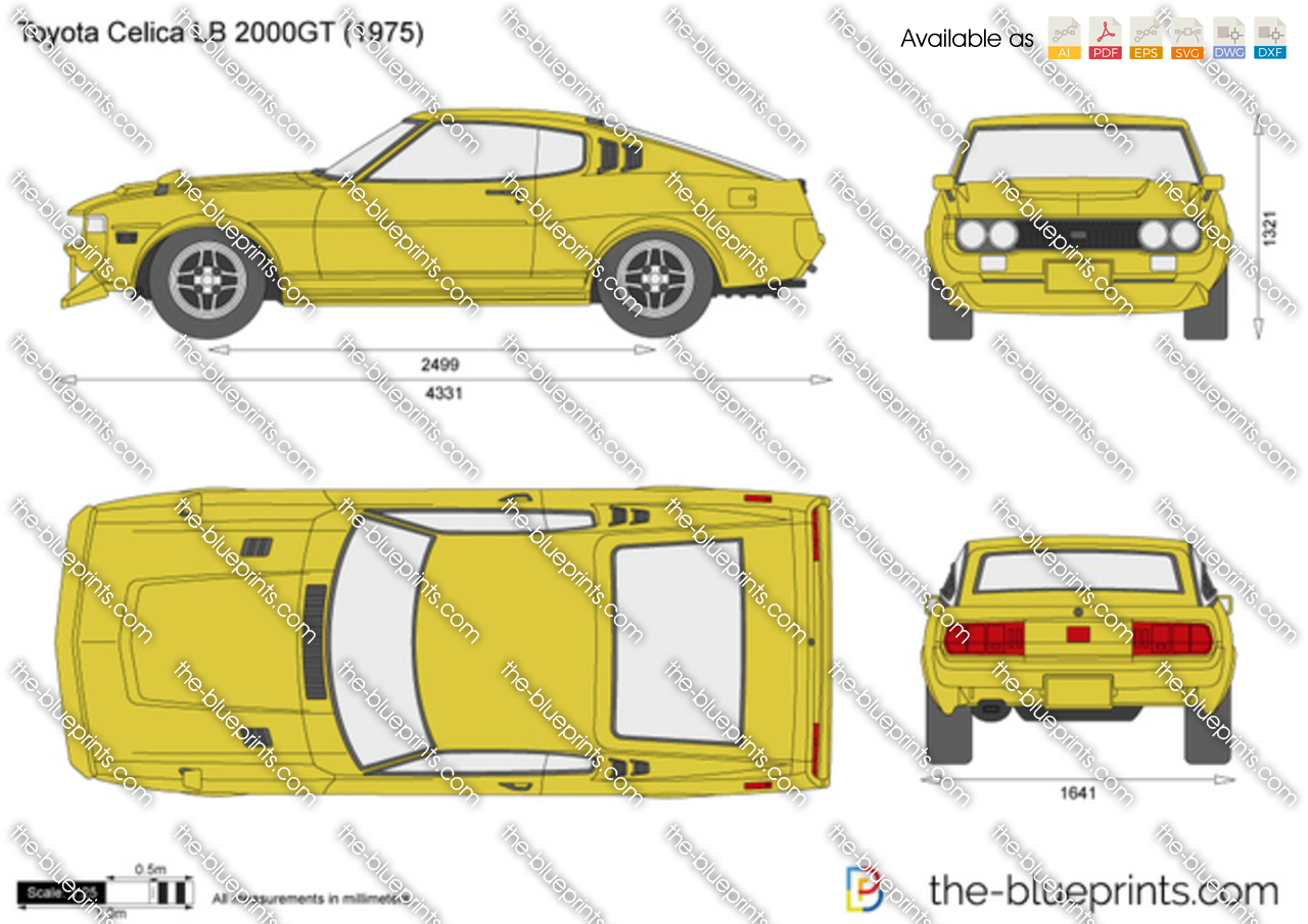 Toyota Celica Lb 2000gt Vector Drawing