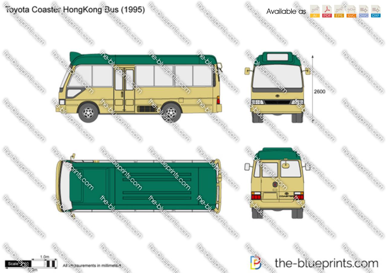Toyota Coaster HongKong Bus 2000