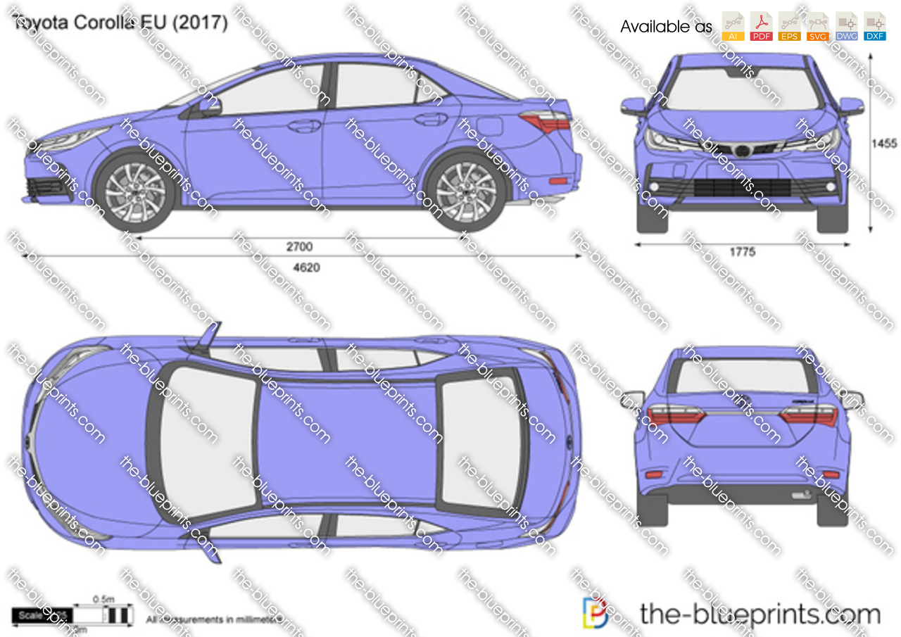 The Vector Drawing Toyota Corolla Eu