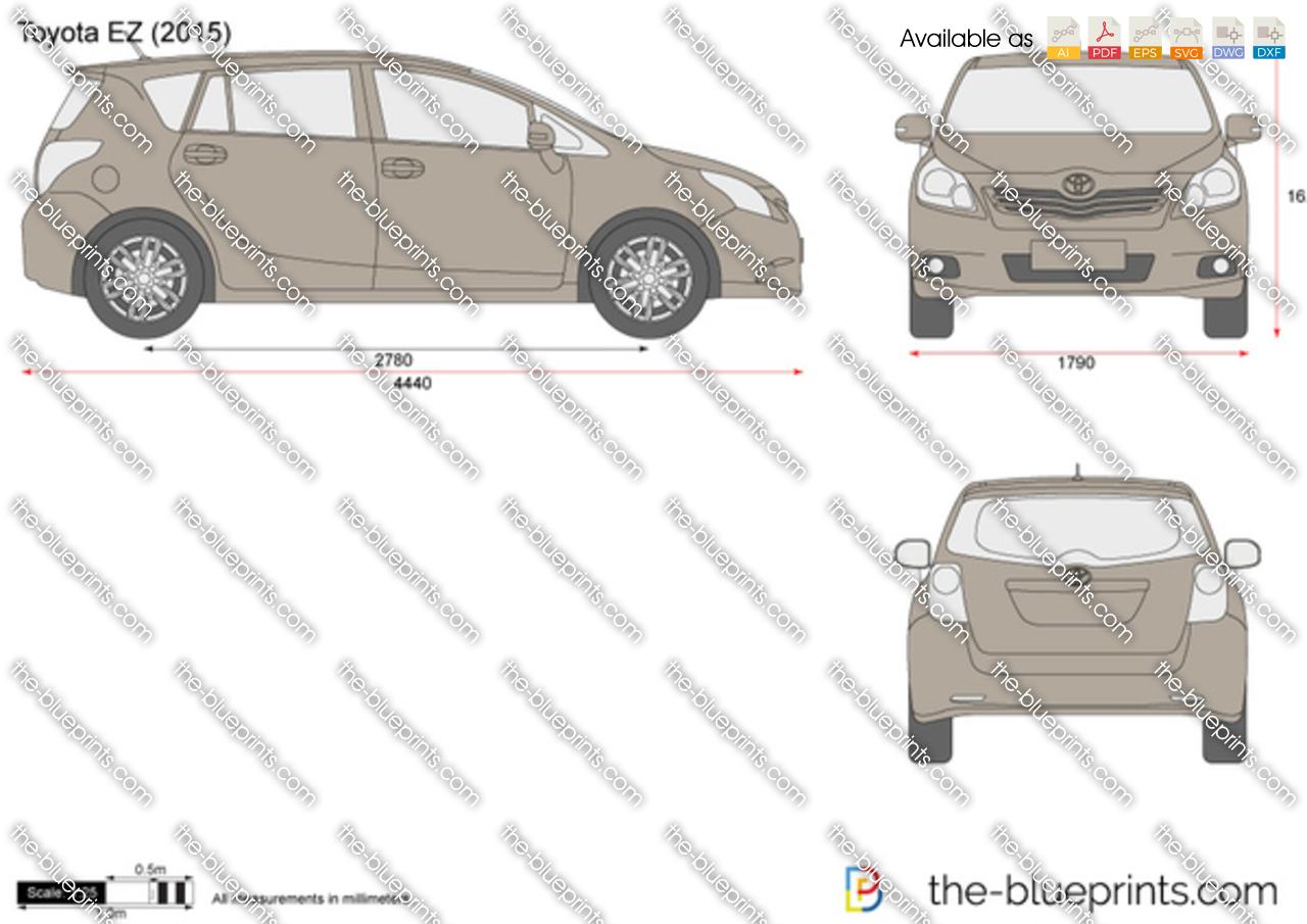 Toyota Ez Vector Drawing