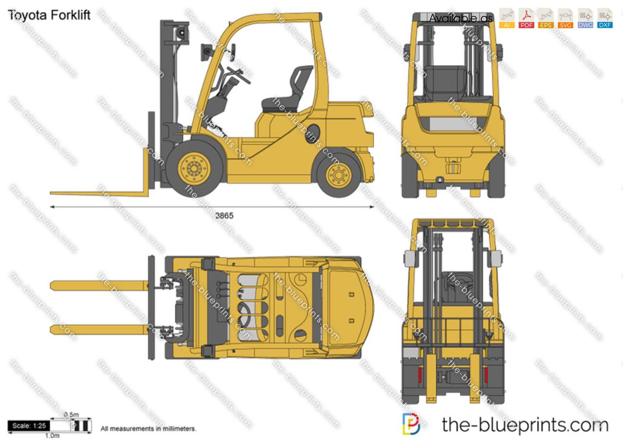 Forklift Truck Autocad Drawing D Pallet Truck In Plan View Cadblocksfree Cad Blocks Free
