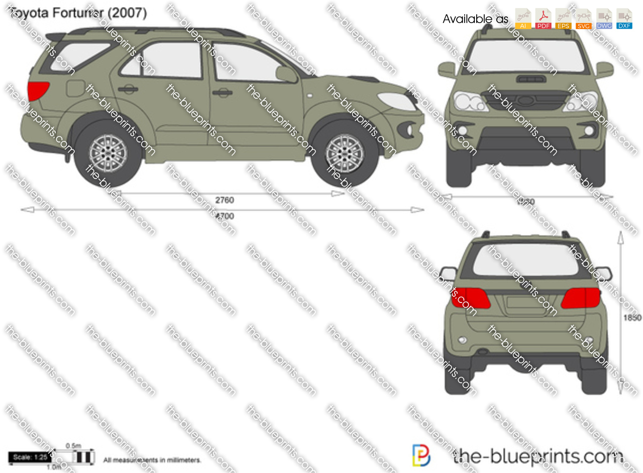 The Blueprints Com Vector Drawing Toyota Fortuner