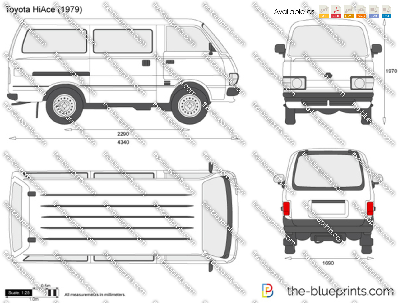 The Blueprints Com Vector Drawing Toyota Hiace