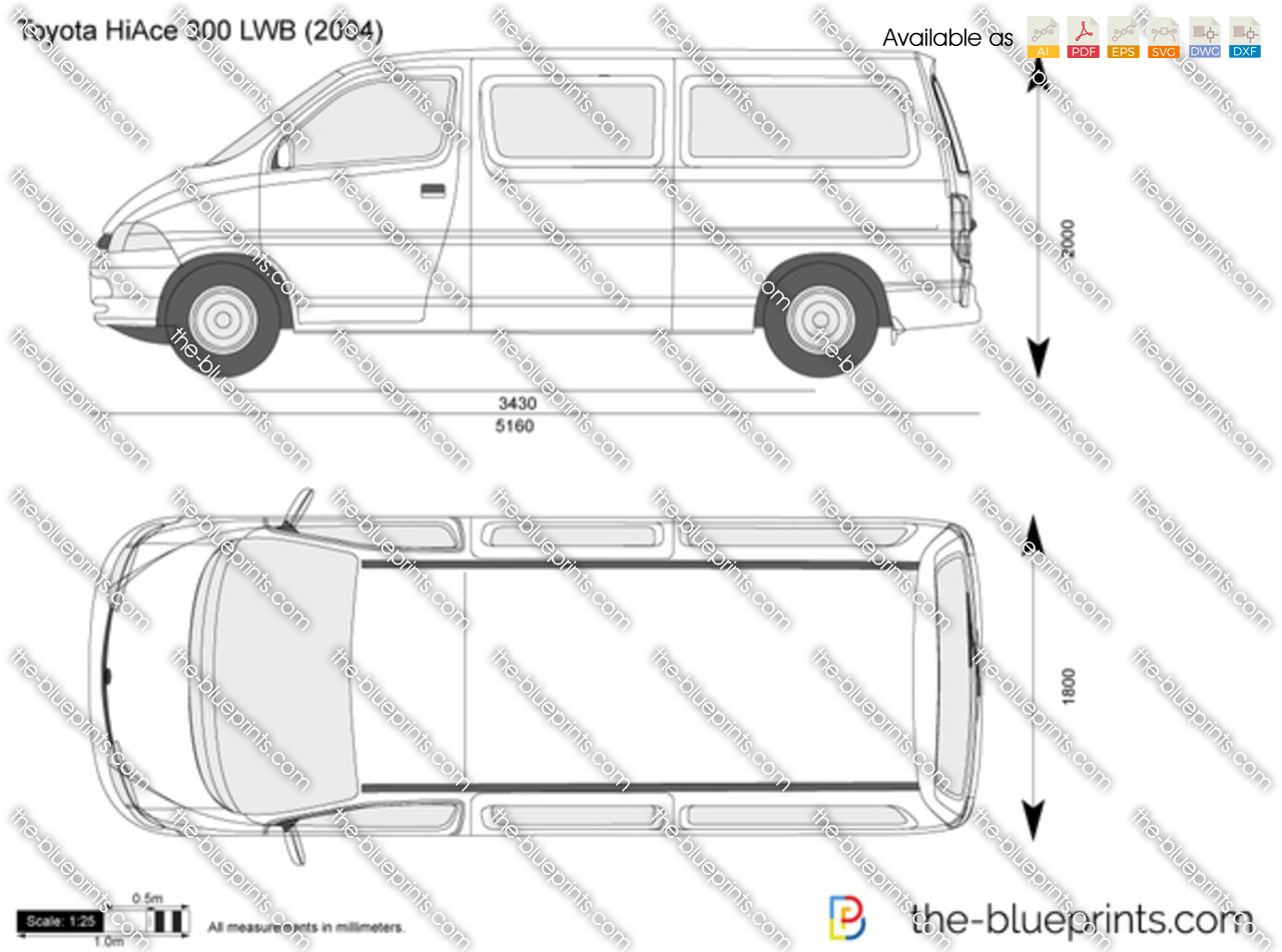 The Blueprints Com Vector Drawing Toyota Hiace 300 Lwb