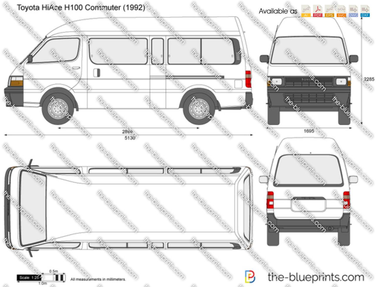 Toyota HiAce H100 Commuter 1994